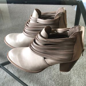 Taupe Strappy Booties